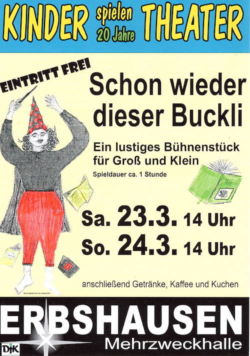 Kindertheater Erbshausen flyer 2019